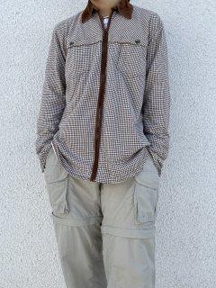JONES NEW YORK Design Zip−Up Shirt