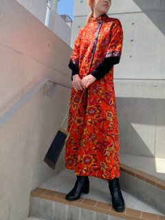 1960s Vintage Psychedelic Quilted Housecoat