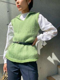 1960's Vintage Green Knit Vest