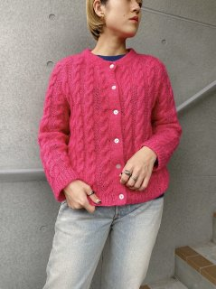 1950's Vintage Pink Cable Cardigan
