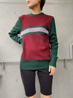 Vintage Green×Red Sweater