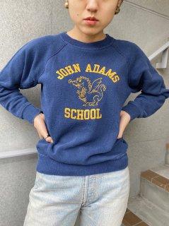 1970's Vintage Navy Color College Sweatshirt