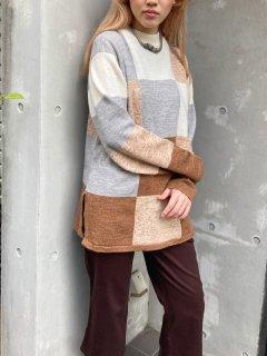 Lady's Block Pattern Knit