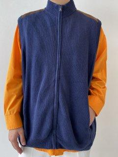 CHAPS Design High-neck Zip-up Vest