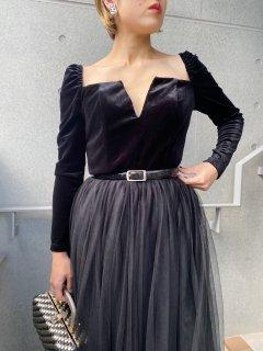 Lady's Black Velour Dress