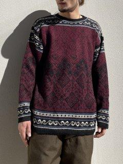 ~80s etirel Design Ski Knit