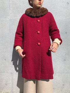 <img class='new_mark_img1' src='https://img.shop-pro.jp/img/new/icons14.gif' style='border:none;display:inline;margin:0px;padding:0px;width:auto;' />1950s Vintage Mink Collar Bordeaux Coat