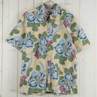 古着<img class='new_mark_img1' src='https://img.shop-pro.jp/img/new/icons14.gif' style='border:none;display:inline;margin:0px;padding:0px;width:auto;' />reyn spooner Hawaiian shirt ベージュ系総柄 古着のネット通販 古着屋グレープフルーツムーン