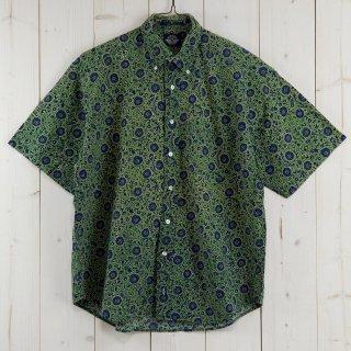 古着90's DOCKERS LEVI'S 半袖柄シャツ グリーン 古着のネット通販 古着屋グレープフルーツムーン