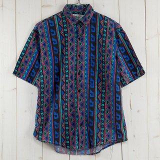 古着アメリカ製 90's Boily Objects 半袖総柄シャツ  古着のネット通販 古着屋グレープフルーツムーン