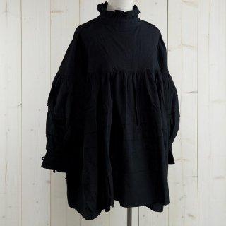 古着長袖フリルブラウス バックリボン ブラック Elcamino L/S BL VolumeBackRibbon 古着のネット通販 古着屋グレープフルーツムーン
