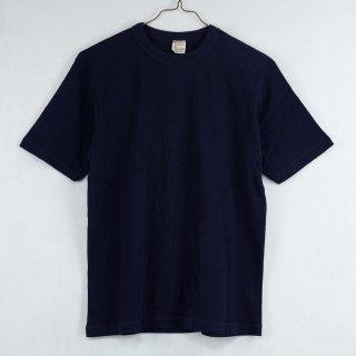 古着Backers Sportswear Short Sleeve Crew Neck Cut&Sew 半袖クルーネックカットソー ネイビー 古着のネット通販 古着屋グレープフルーツムーン