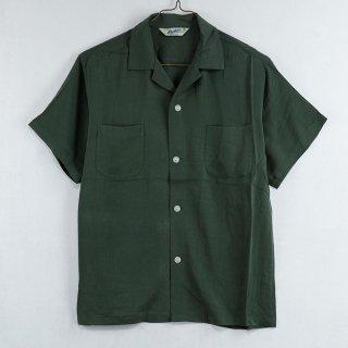 古着Backers Short Sleeve Open Collar Shirt 半袖オープンカラーシャツ グリーン 古着のネット通販 古着屋グレープフルーツムーン