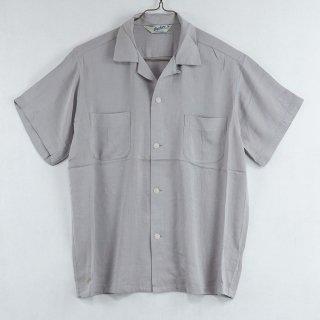 古着Backers Short Sleeve Open Collar Shirt 半袖オープンカラーシャツ グレー 古着のネット通販 古着屋グレープフルーツムーン