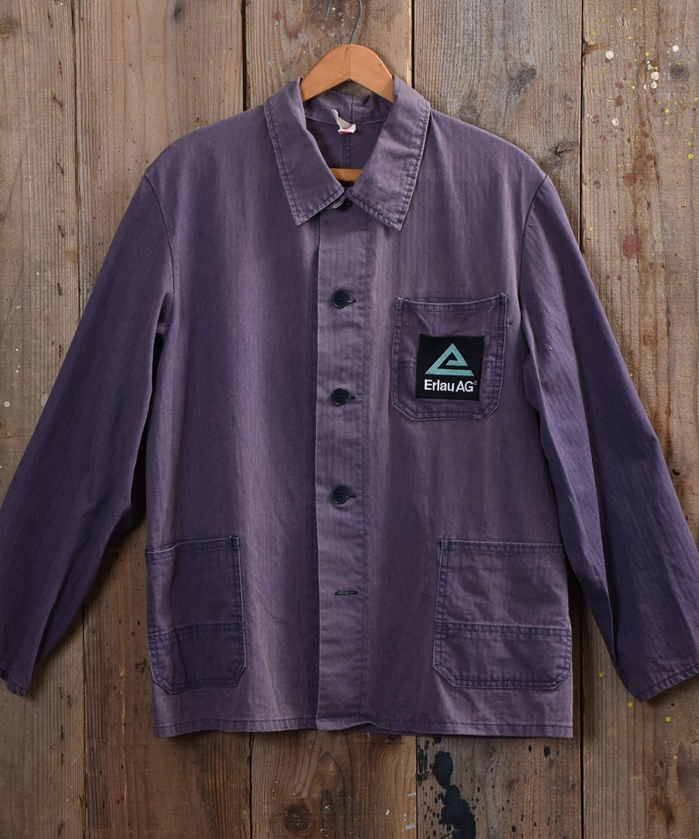 古着 German herringbone twill work jacket | ドイツ製ヘリンボーンツイルワークジャケット  古着 ネット 通販 古着屋グレープフルーツムーン