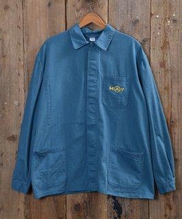 古着German cotton twill work jacket   ドイツ製コットンツイルユーロワークジャケット 古着のネット通販 古着屋グレープフルーツムーン