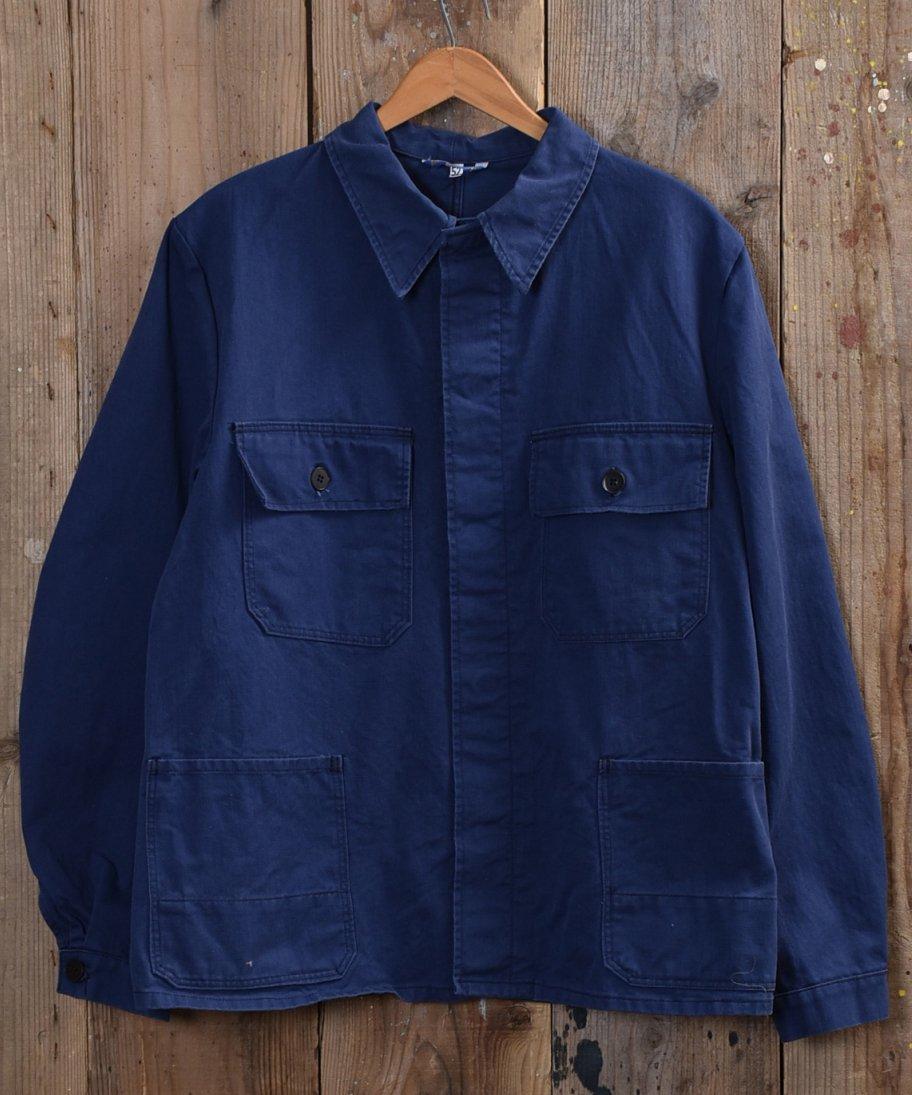 古着 German cotton twill work jacket | ドイツ製コットンツイル ユーロワークジャケット 古着 ネット 通販 古着屋グレープフルーツムーン