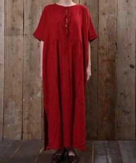 古着drew strings short sleeve dress 胸元コード付きワンピース 古着のネット通販 古着屋グレープフルーツムーン