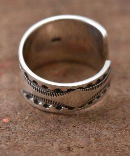 古着Silver Ring Fence Stamp Free | ネイティブアメリカン柄スタンプ シルバーリング 古着のネット通販 古着屋グレープフルーツムーン
