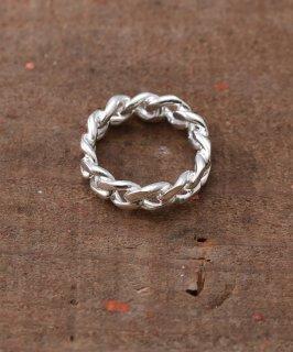 古着Silver Ring Fixed Kihei Chain | 喜平チェーンモチーフシルバーリング 古着のネット通販 古着屋グレープフルーツムーン