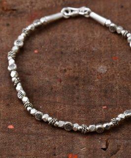 古着Silver Bracelet KRN Beads | 民族柄シルバービーズブレスレット 古着のネット通販 古着屋グレープフルーツムーン