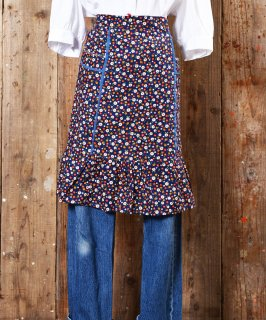 古着70's little Flower pattern Apron|70年代 小紋花柄エプロン 古着のネット通販 古着屋グレープフルーツムーン
