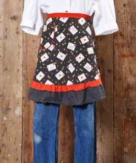 古着Heart & Letter Print Apron|ハート&お手紙柄エプロン 古着のネット通販 古着屋グレープフルーツムーン