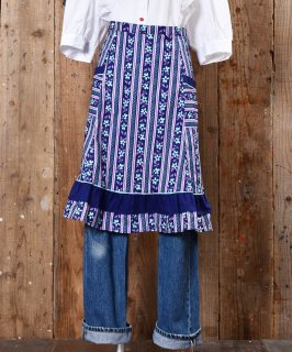 古着European Flower pattern Apron|ヨーロッパ花柄エプロン 古着のネット通販 古着屋グレープフルーツムーン