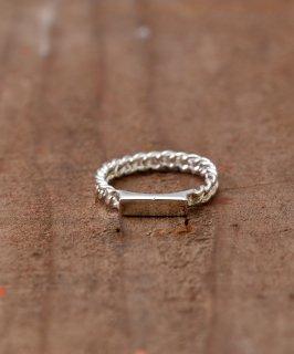 古着Silver Ring 3.5mm Fixed ID |  IDプレートモチーフシルバーリング 古着のネット通販 古着屋グレープフルーツムーン