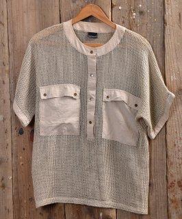 古着Mesh T Shirt|メッシュ Tシャツ ベージュ系 古着のネット通販 古着屋グレープフルーツムーン