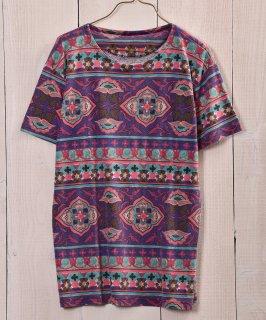 古着ethnic multi pattern T Shirt |エスニック総柄Tシャツ 古着のネット通販 古着屋グレープフルーツムーン