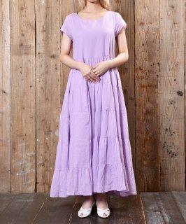 古着Short Sleeve Dress Teared Solid ショートスリーブドレスワンピース 古着のネット通販 古着屋グレープフルーツムーン