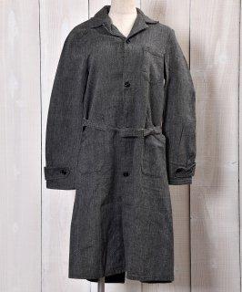 古着50's〜60'sEURO Vintage Black Chambray Atelier Coat|ユーロヴィンテージ ブラックシャンブレーアトリエコート 小さめサイズ 古着のネット通販 古着屋グレープフルーツムーン