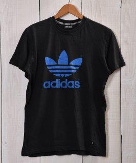 古着adidas T Shirts | アディダス プリントTシャツ トレフォイル ブラック系 古着のネット通販 古着屋グレープフルーツムーン