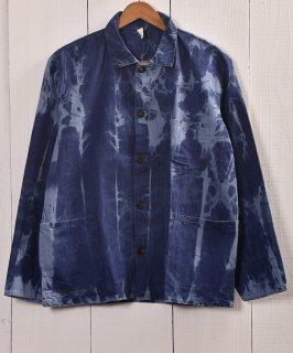 古着EURO  Bleach Work Jacket   ブリーチワークジャケット ユーロカバーオール 古着のネット通販 古着屋グレープフルーツムーン
