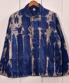 古着EURO  Bleach Work Jacket | ブリーチワークジャケット ユーロタイプカバーオール B 古着のネット通販 古着屋グレープフルーツムーン