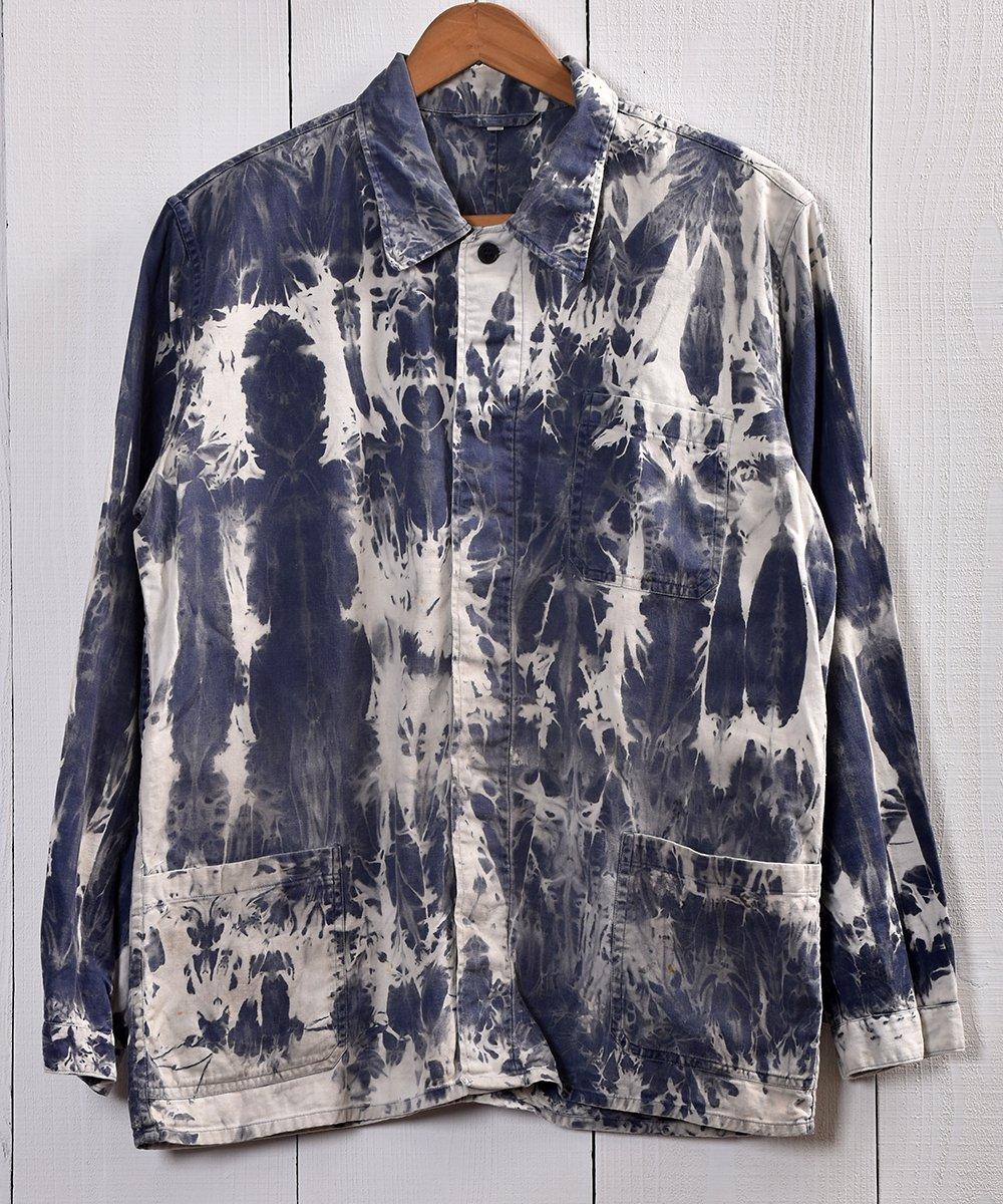 古着 EURO Bleach Work Jacket | ブリーチワークジャケット ユーロタイプカバーオール C 古着 ネット 通販 古着屋グレープフルーツムーン