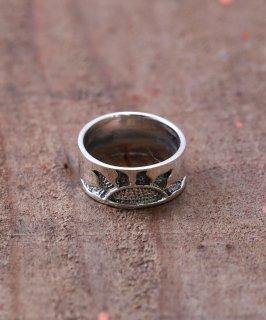 古着Silver Ring Horizontal Sunny  | 地平線上の太陽モチーフ シルバーリング 古着のネット通販 古着屋グレープフルーツムーン
