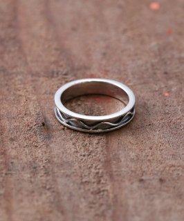 古着Silver Ring Waveform Line  | 波線デザイン シルバーリング 古着のネット通販 古着屋グレープフルーツムーン