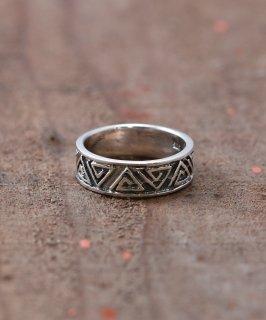 古着Silver Ring Triangle Swell  | ネイティブ風 三角デザイン シルバーリング 古着のネット通販 古着屋グレープフルーツムーン