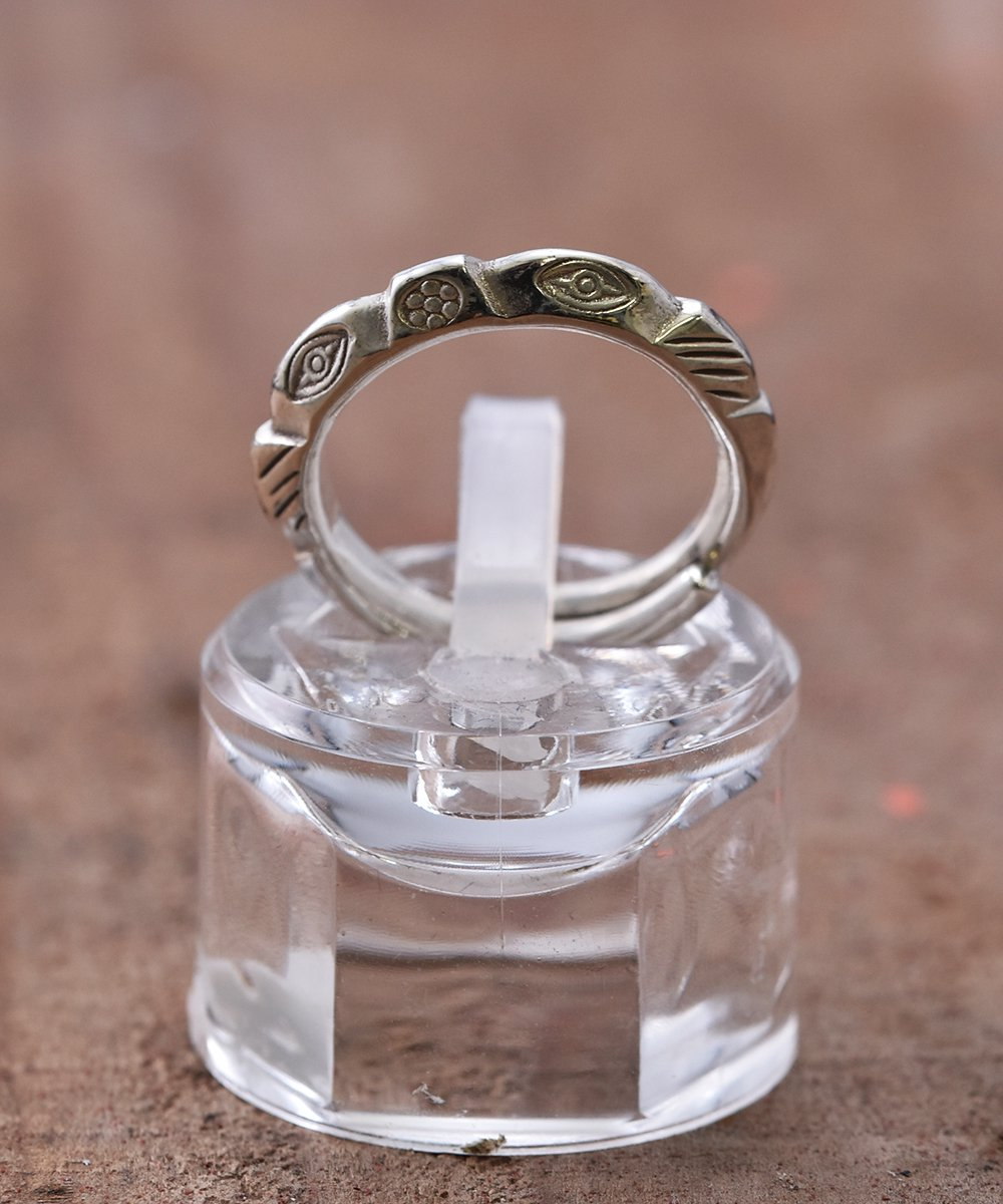 Silver Ring Mountain Cut 3rd Eye | 山型カット 3rdアイ デザイン シルバーリングサムネイル