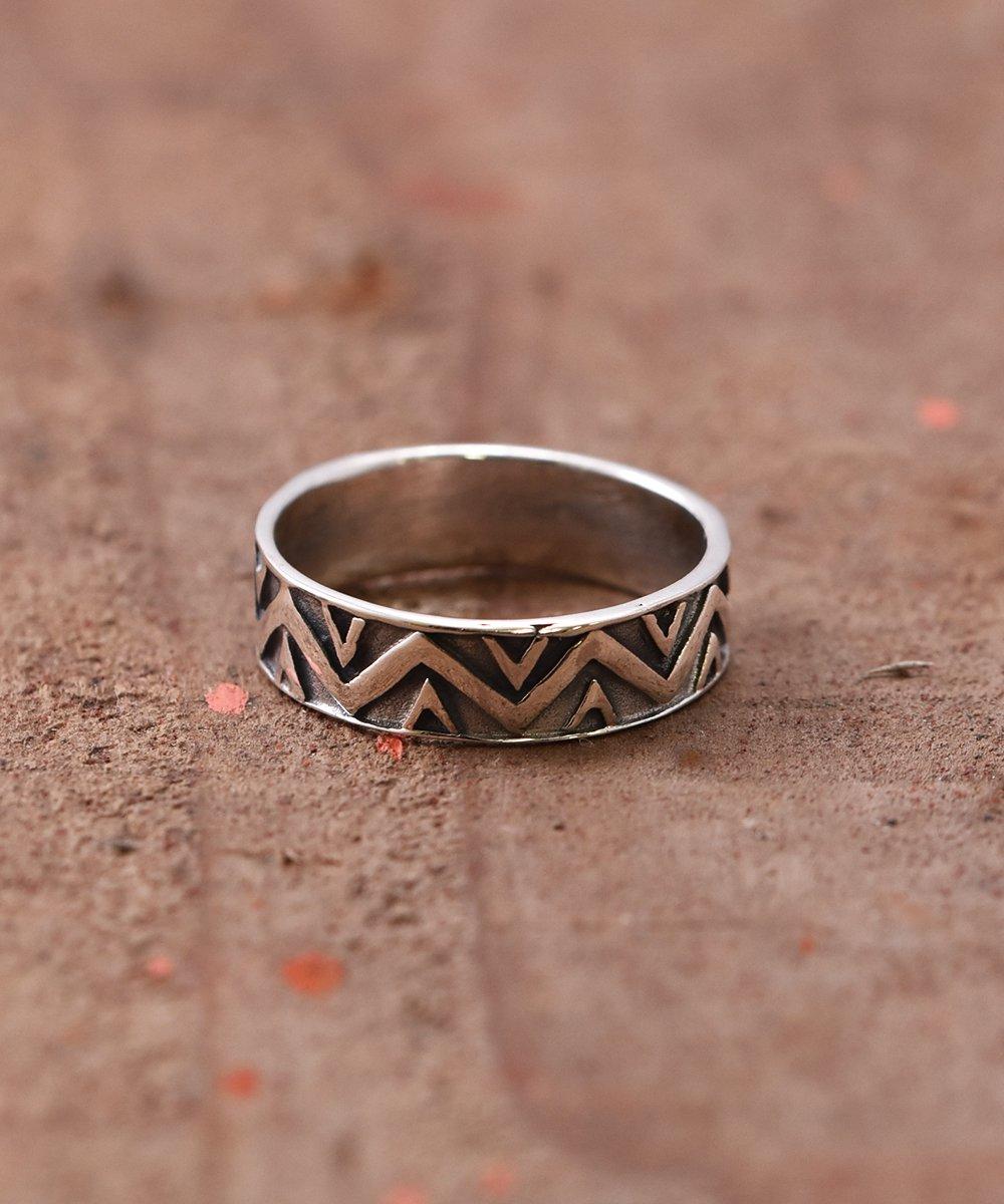 古着 Silver Ring Giza Giza Line | ギザギザライン デザイン シルバーリング 古着 ネット 通販 古着屋グレープフルーツムーン