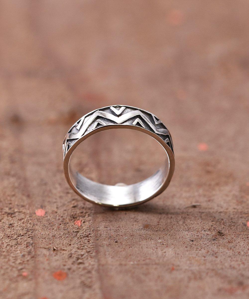 Silver Ring Giza Giza Line | ギザギザライン デザイン シルバーリングサムネイル