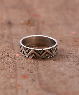 古着Silver Ring Giza Giza Line | ギザギザライン デザイン シルバーリング 古着のネット通販 古着屋グレープフルーツムーン