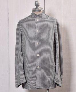 古着Italian Navy Cook Jacket Hickory Stripe |イタリア海軍ヒッコリーストライプコックジャケット 古着のネット通販 古着屋グレープフルーツムーン