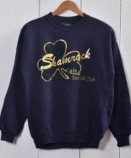 古着MADE IN USA|Shamrorock Cafe & Social Club Print Sweat|アメリカ製|シャムロックカフェ ソーシャル クラブ プリント スウェット 古着のネット通販 古着屋グレープフルーツムーン