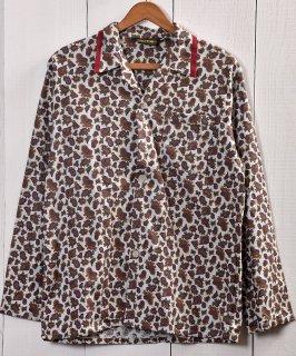 古着Good Fabric Paisley pattern Pajamas Shirt |グッドファブリック ペイズリー総柄パジャマシャツ 古着のネット通販 古着屋グレープフルーツムーン