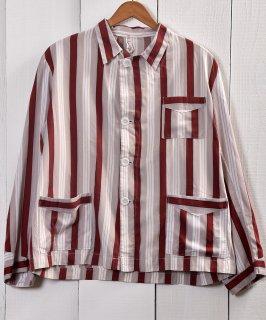 古着Light Fabric Stripe Pattern Pajamas Shirt |ライトファブリック ストライプ パジャマシャツ 古着のネット通販 古着屋グレープフルーツムーン