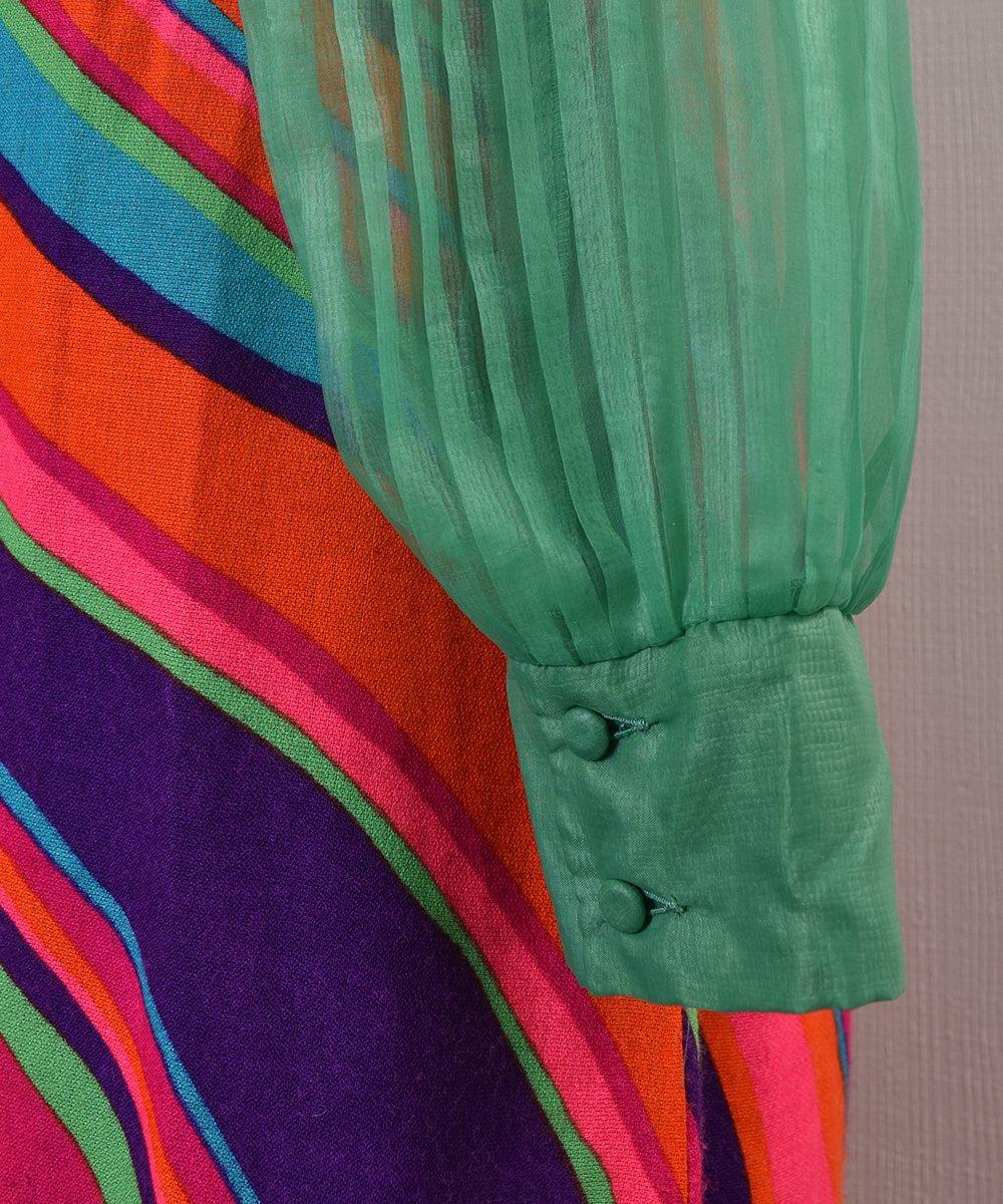 Pleats Sleeve Sheer Shirt with Bowtie|ボウタイ付きプリーツスリーブ シアーシャツサムネイル