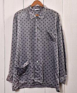 古着Multi Pattern Pajamas Shirt |総柄パジャマシャツ | グレー系 古着のネット通販 古着屋グレープフルーツムーン